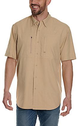 Ariat Men's Pro VentTek Solid Khaki Short Sleeve Shirt