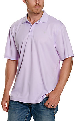 Ariat Men's TEK Haze Drift Purple Heat Series Polo Shirt - Cavender's Exclusive
