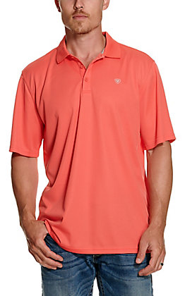 Ariat Men's TEK Coral Heat Series Polo Shirt - Cavender's Exclusive