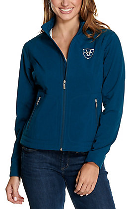 Ariat Women's Team Teal and Cream Logo Softshell Jacket - Cavender's Exclusive