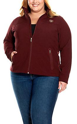 Ariat Women's New Team Malbec Logo Softshell Jacket - Plus Size