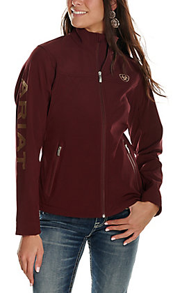 Ariat Women's New Team Malbec Logo Softshell Jacket - Cavender's Exclusive