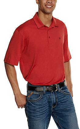 Ariat Men's Red TEK Short Sleeve Polo Shirt