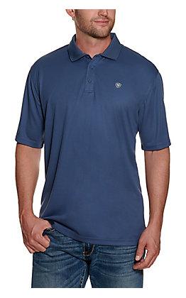 Ariat Men's TEK Steel Blue Polo Shirt