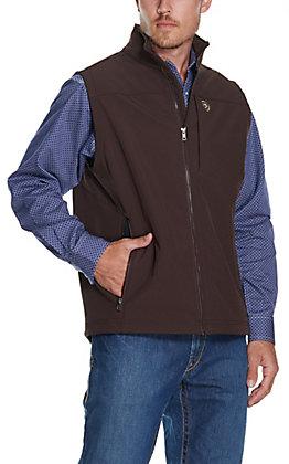 Ariat Men's Team Coffee Bean Brown Logo Softshell Vest - Cavender's Exclusive