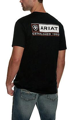 Ariat Men's Format Black Short Sleeve T-Shirt