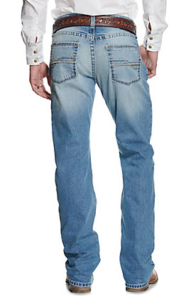 Ariat Men's M5 Shasta Light Wash Stackable Straight Leg Slim Fit Jean - Cavender's Exclusive