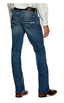 Ariat Men's M4 Medium Wash Relaxed Fit Straight Leg Stretch Jeans