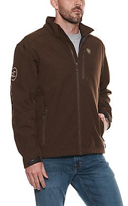 Ariat Men's Dark Brown and Tan Logo 2.0 Softshell Jacket - Cavender's Exclusive
