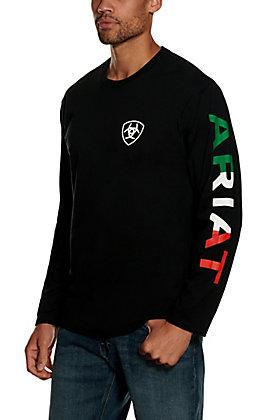 Ariat Men's Black Mexico Long Sleeve T-shirt