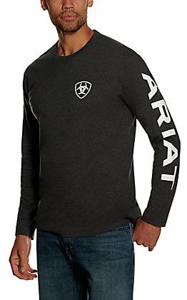 Ariat Men's Charcoal Heather Long Sleeve T-shirt
