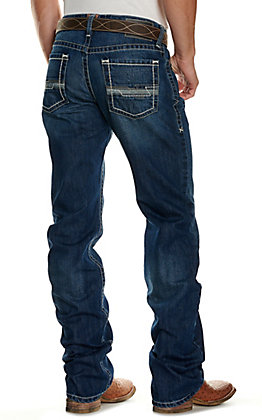 Ariat Men's M4 Carson Prescott Medium Wash Low Rise Boot Cut Jeans - Cavender's Exclusive