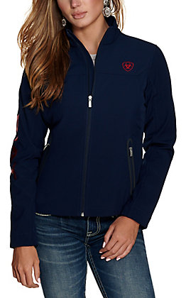 Ariat Women's New Team Navy with Red Soft Shell Jacket