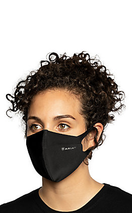 Ariat TEK Black with Anti-Microbial V-Block Unisex Face Mask