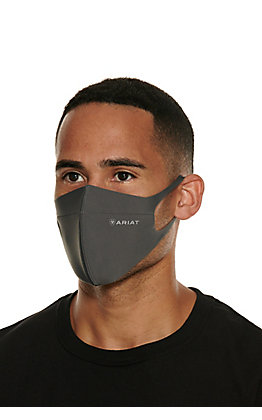 Ariat TEK Charcoal Grey Unisex Face Mask - Cavender's Exclusive