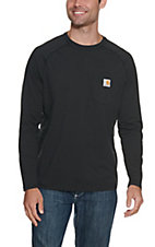 Carhartt Men's Black Relaxed Fit Long Sleeve T-Shirt - Big & Tall