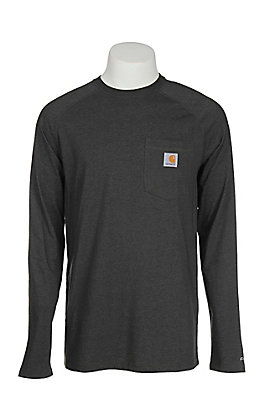 Carhartt Men's Grey Relaxed Fit Long Sleeve T-Shirt