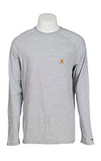 Carhartt Men's Heather Grey Relaxed Fit Long Sleeve T-Shirt - Big & Tall