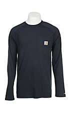 Carhartt Men's Navy Relaxed Fit Long Sleeve Work T-Shirt - Big & Tall