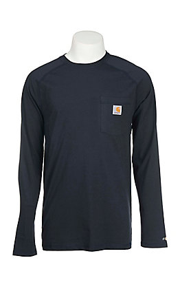 Carhartt Men's Navy Relaxed Fit Long Sleeve Work T-Shirt