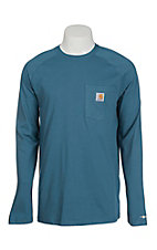 Carhartt Men's Blue Relaxed Fit Long Sleeve Work T-Shirt