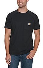 Carhartt Black Relaxed Fit Short Sleeve Work Shirt - Big & Tall