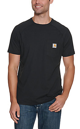 Carhartt Force Black Relaxed Fit Short Sleeve Work T-Shirt