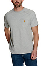 Carhartt Heather Grey Relaxed Fit Short Sleeve Work Shirt