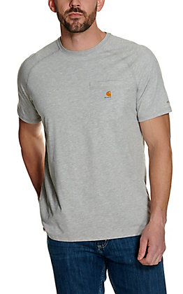 Carhartt Force Heather Grey Relaxed Fit Short Sleeve Work T-Shirt
