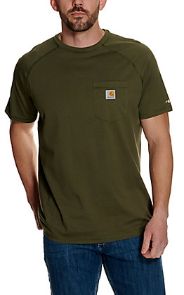 Carhartt Force Moss Relaxed Fit Short Sleeve Work T-Shirt