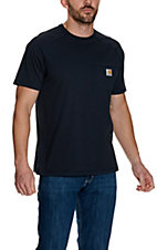 Carhartt Navy Force Delmont Short Sleeve Work Shirt
