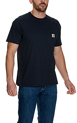 Carhartt Force Navy Relaxed Fit Short Sleeve Work T-Shirt