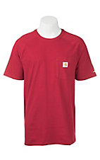 Carhartt Crimson Relaxed Fit Short Sleeve Work Shirt - Big & Tall
