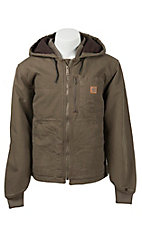 Carhartt Light Brown Fleece Lined Sandstone Chapman Jacket