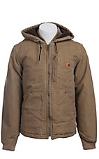 Carhartt Frontier Brown Fleece Lined Sandstone Chapman Jacket