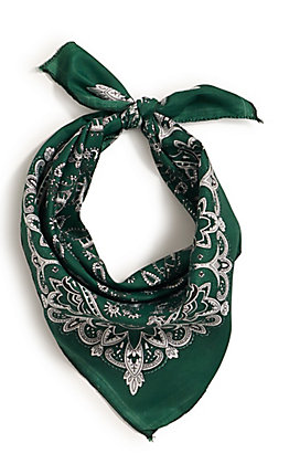 M&F Western Green with One Sided Print Bandana