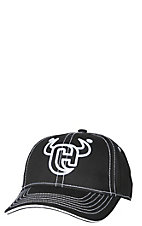Cowboy Hardware Black and White Logo Cap