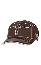 Cowboy Hardware Ghost Steer Brown and White Cap