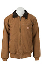 Carhartt Carhartt Brown Duck Quilted Flannel-Lined Sandstone Bankston Jacket