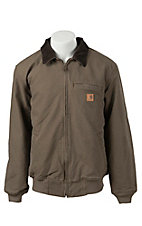 Carhartt Light Brown Duck Quilted Flannel-Lined Sandstone Bankston Jacket