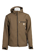 Carhartt Men's Canyon Brown Hooded Bonded Jacket