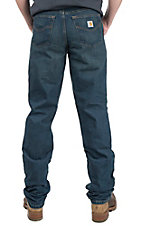 Carhartt Men's Dark Wash Traditional Fit Straight Leg Jean