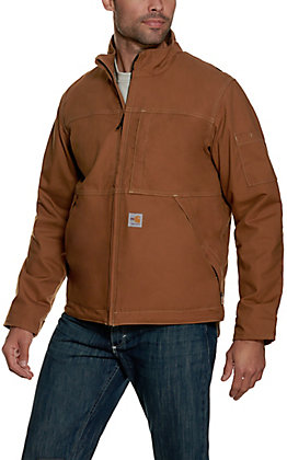 Carhartt Men's Brown Full Swing Fire Resistant Jacket