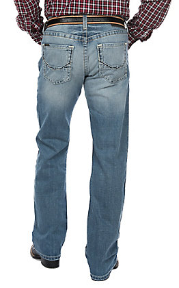 Ariat Men's M5 Ralston Shasta Light Wash Stretch Straight Leg Jeans