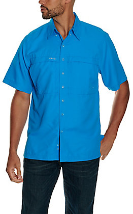 GameGuard Outdoors Men's Atlantic Blue MicroFiber Fishing Shirt