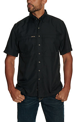 GameGuard Outdoors Men's Caviar Black MicroFiber Fishing Shirt - Extended Sizes