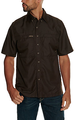GameGuard Outdoors Men's Chocolate MicroFiber Fishing Shirt - Extended Sizes