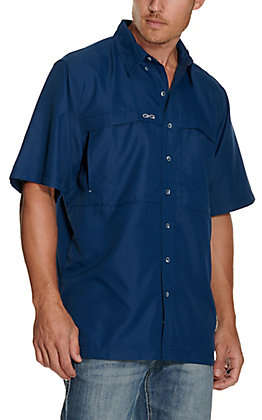 GameGuard Outdoors Men's Deep Water MicroFiber Fishing Shirt - Big & Tall