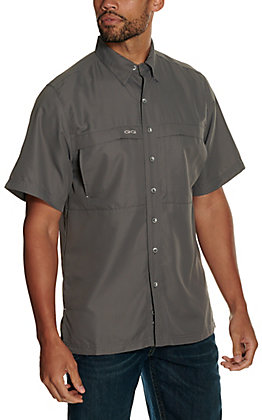 GameGuard Outdoors Men's GunMetal MicroFiber Fishing Shirt - Big & Tall