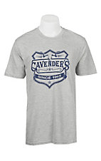 Cavender's Grey with Navy Highway Sign Logo Short Sleeve Tee